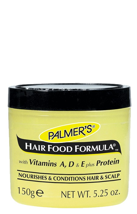 Palmer's Hair Food Formula, a unique blend of essential oils, Vitamins A, D and E, plus protein