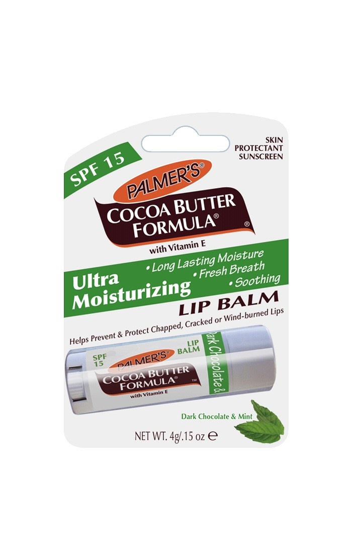 An ultra-moisturizing lip balm made up of a solid shot of pure cocoa butter, ingeniously including an SPF 15.